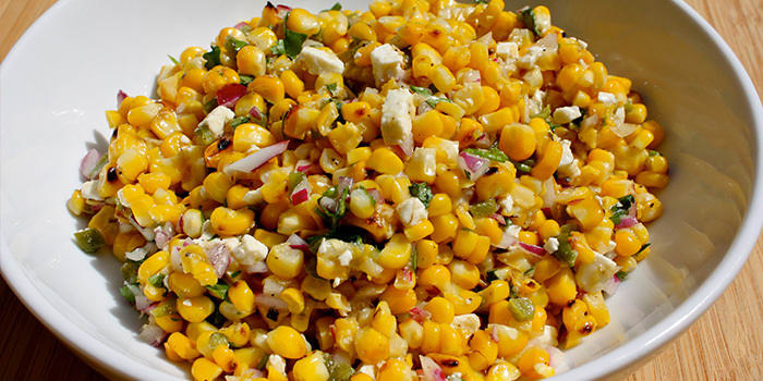 Grilled Corn Salad with Jalapeño