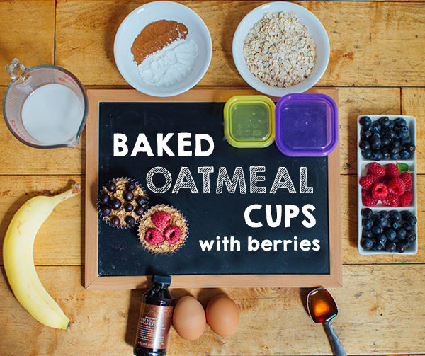 Baked Oatmeal Cups with Berries and Banana   BeachbodyBlog.com