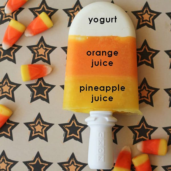 Candy Corn Popsicles Halloween Snack
