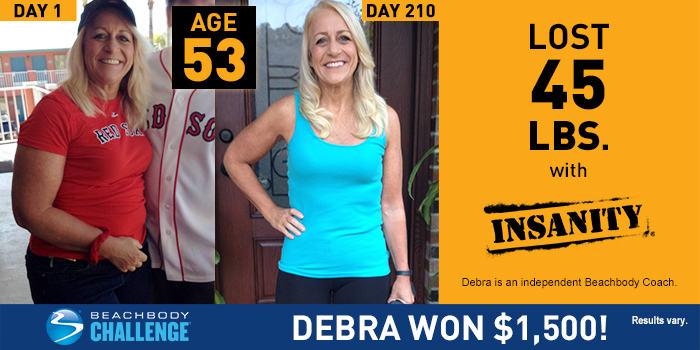 INSANITY Results: Debra Lost 45 Pounds | The Beachbody Blog