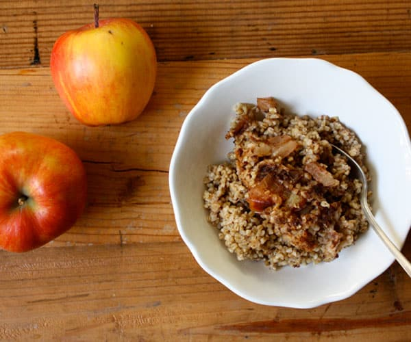 how to make cooked apples for breakfast