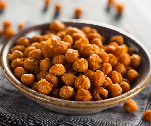 Healthy Snacks for Work Under 200 Calories - Roasted Chickpeas