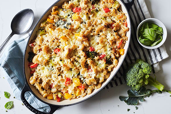 Three Cheese Macaroni Casserole Recipe
