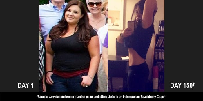 cize results julie danced off 66 pounds in 150 days
