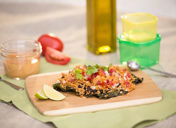 Vegan Kale Nachos FIXATE Game Day // healthy game day snacks