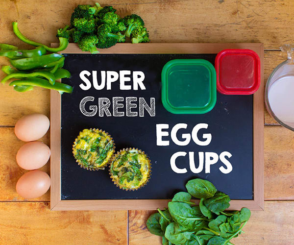 Healthy Breakfast - Super Green Egg Cups