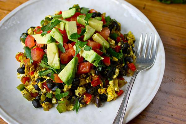 Healthy Breakfast - Mexican Tofu Breakfast Scramble