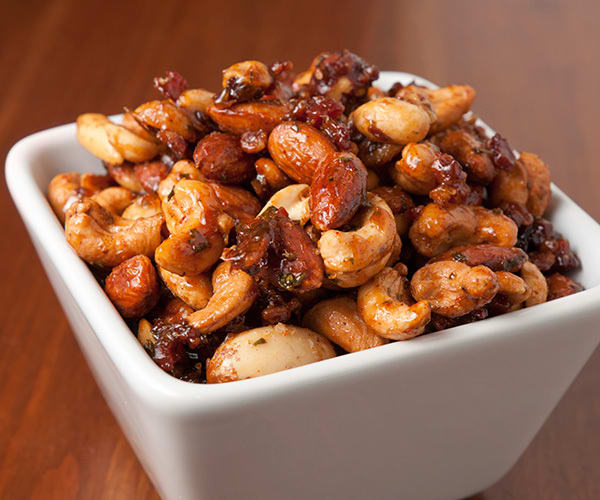 Healthy Snacks for Work Under 200 Calories - Spiced Nuts