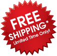 Free shipping asterisk. Limited time only.