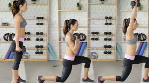 Step Back Swimmer's Press Workout with Autumn Calabrese