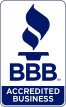 Image of the Better Business Bureau's Accredited Business seal.