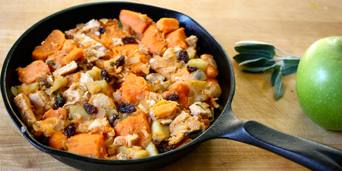 Hearty Chicken Sweet Potatoes and Apples
