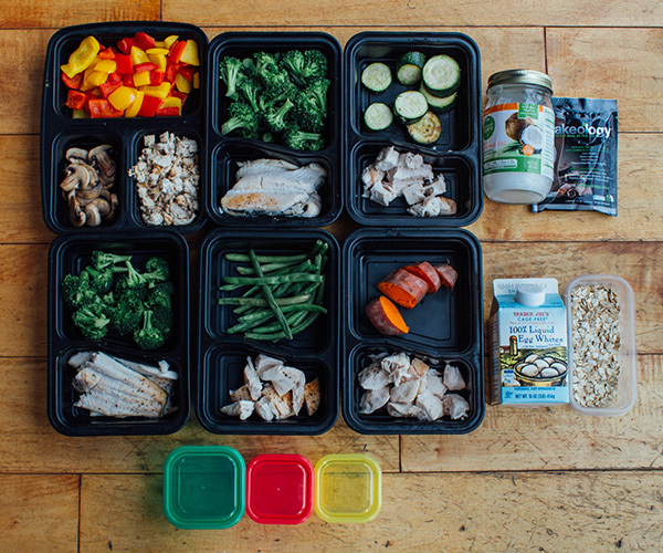 Meal Prep Mondays following the Countdown to Competition Meal Plan