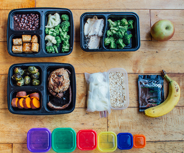 Meal Prep Mondays following the 21 Day Fix Meal Plan