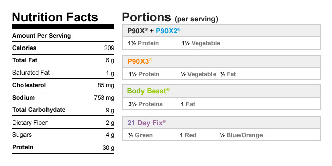 Chicken bruschetta nutrition info and meal plan portions