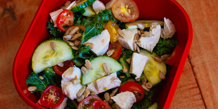 chicken caesar, healthy salad, 21 day fix approved salad, 21 day fix salad, 21 day fix caeser salad, clean eating caesar salad