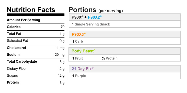 Tropical Fruit Salad nutrition info