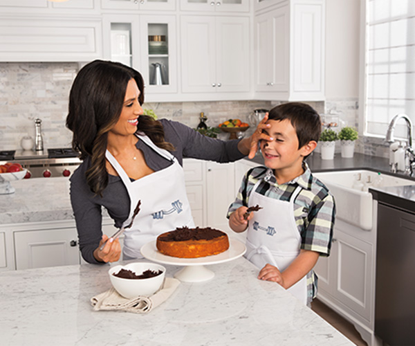 Autumn Calabrese cooks with her son