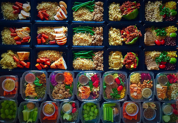 Meal prep by @eatcleansandiego