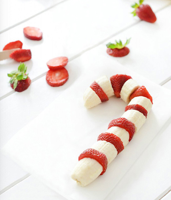Banana Strawberry Candy Cane