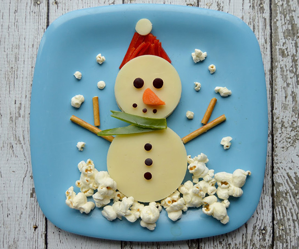 Snowman Snack Platter
