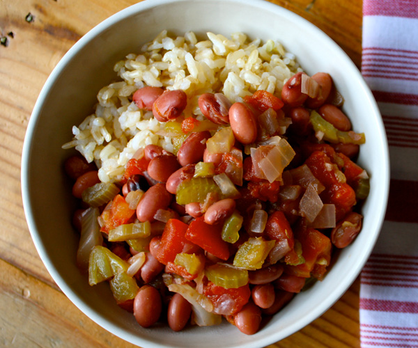 Savory Slow Cooker Beans with Rice