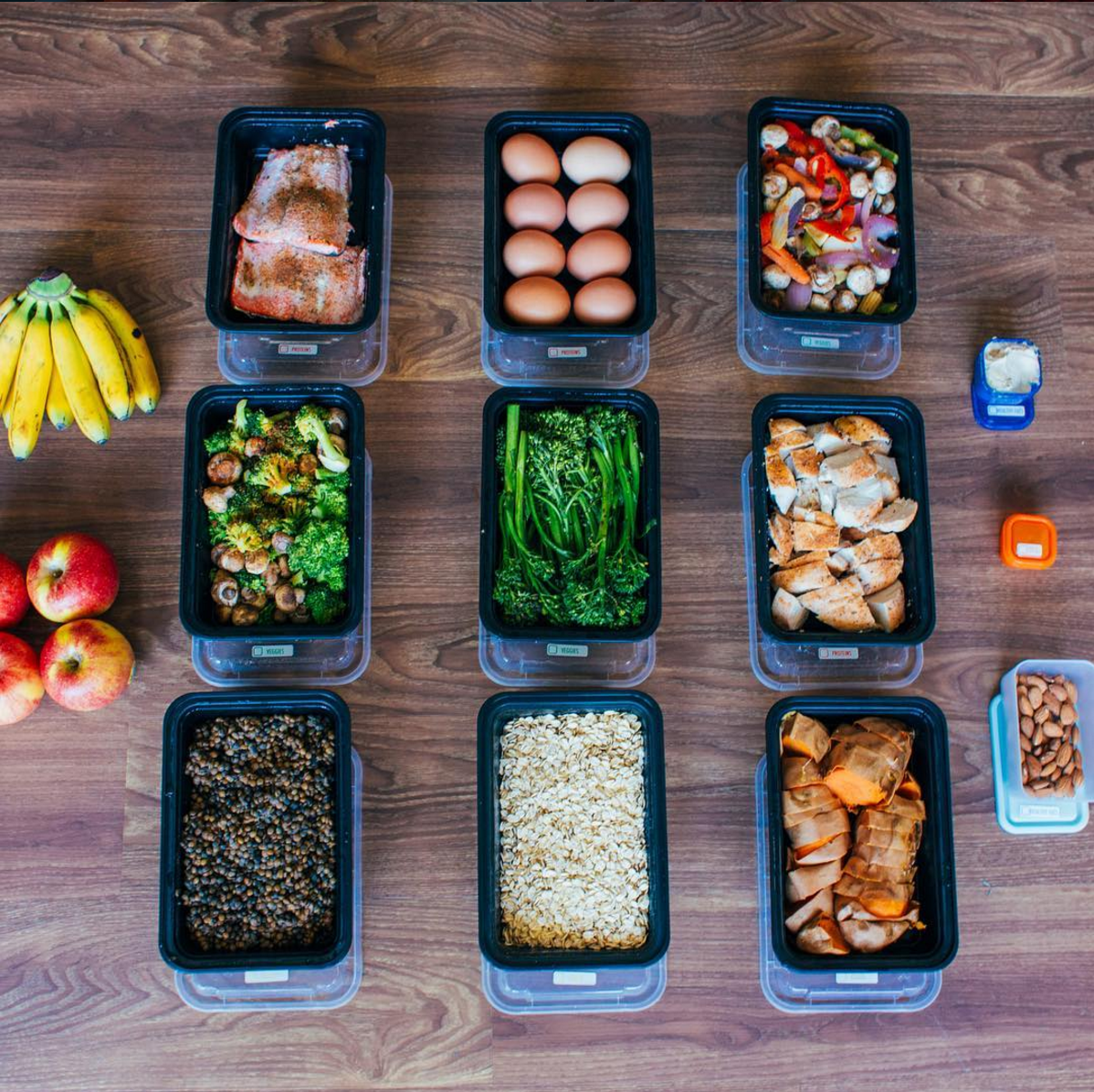 Buffet-style meal prep by meowmeix