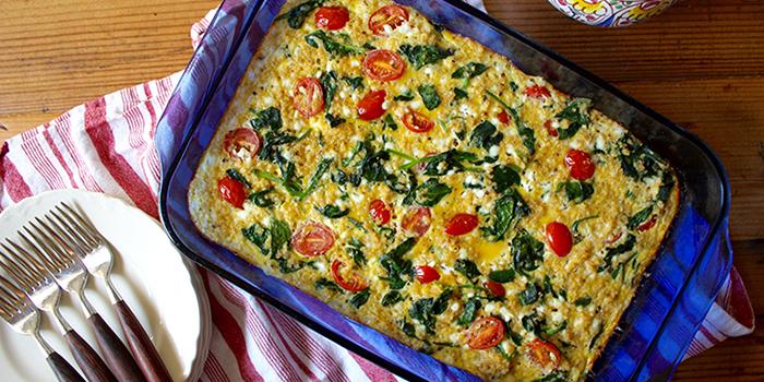 Spinach Tomato and Quinoa Breakfast Casserole | BeachbodyBlog.com