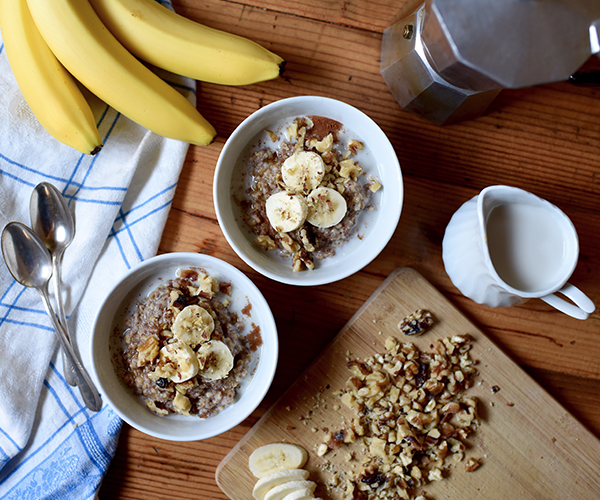 Slow Cooker Banana Bread Oatmeal Recipe