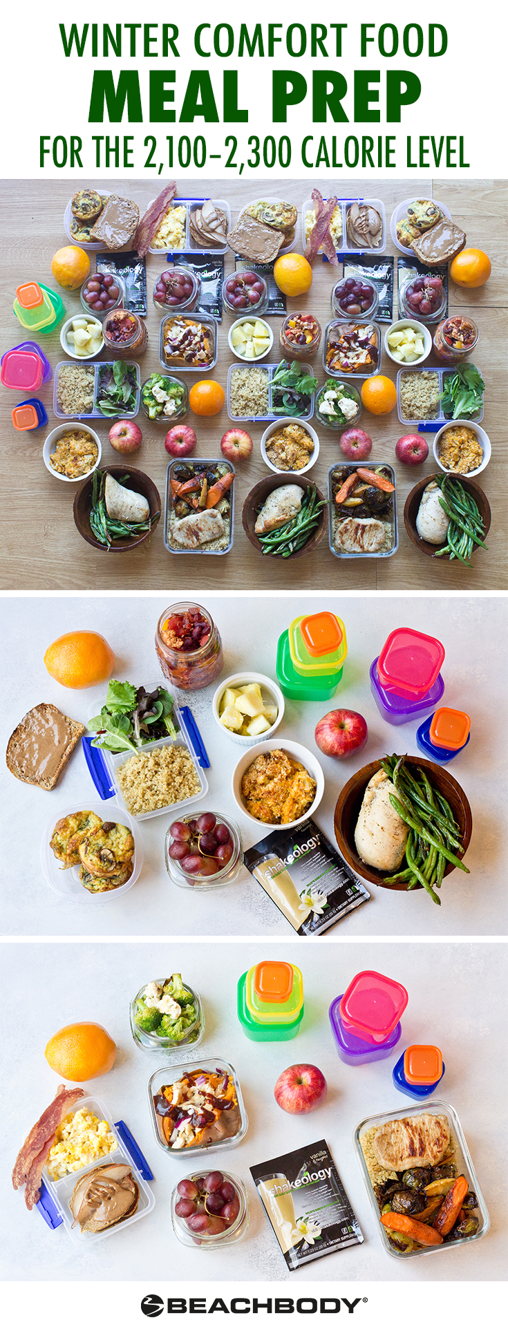 Make this Winter Comfort Foods Meal Prep with 2,100-2,300 Calories
