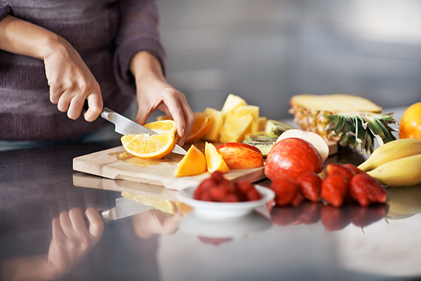 Cutting fruit for a make-ahead brunch