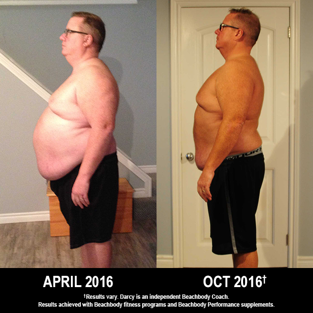 "21 Day Fix Results: Darcy Lost 71 Pounds and Over 6"" Off His Waist"