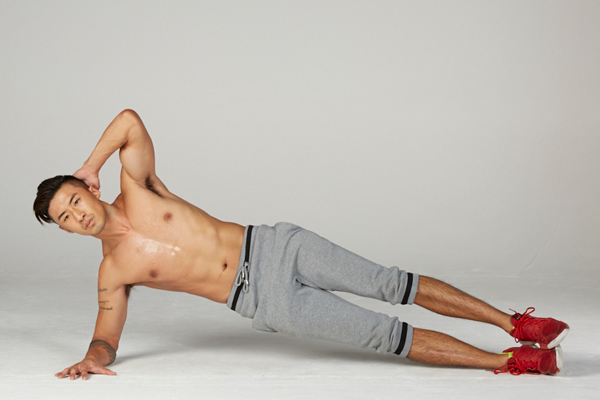 Forearm Side Plank with Crunch
