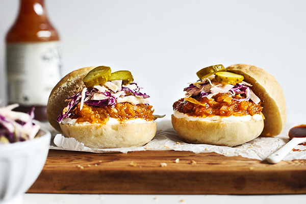 Barbecue Spaghetti Squash Sliders