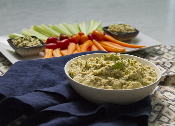 Protein-Packed Ranch Dip FIXATE Game Day Recipes // healthy game day snacks
