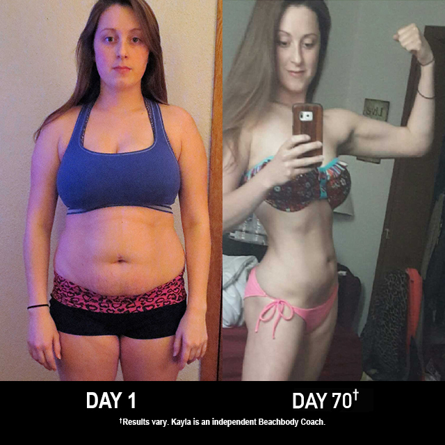 FOCUS T25 Results: Kayla Lost 25 Pounds in 75 Days!