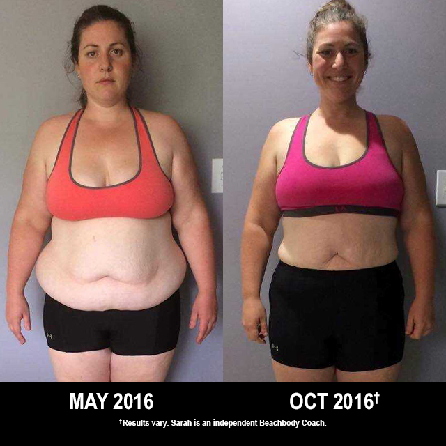 Beachbody Results: Sarah Lost 34.8 Pounds