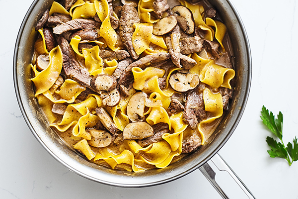Skinny Beef Stroganoff Recipe