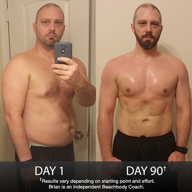 P90X Results: Brian Lost 27.8 Pounds in 90 Days!