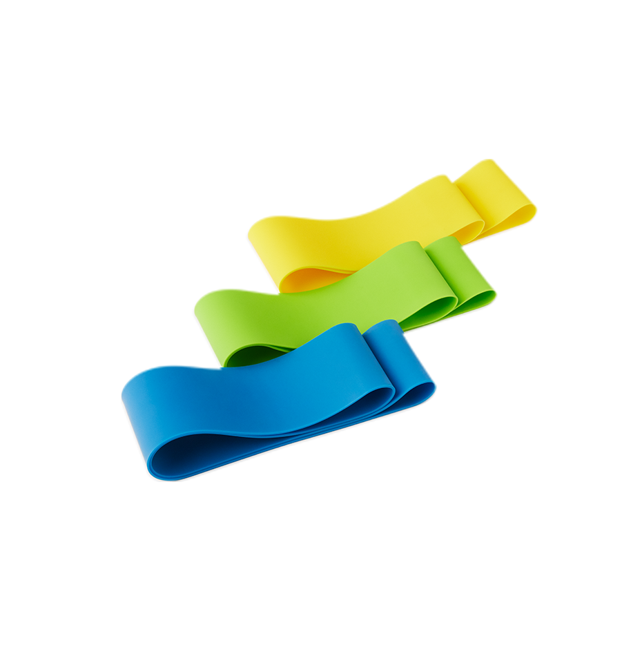 Resistance Loops Set of 3 Green, Blue, Yellow Perform Better Mini Bands