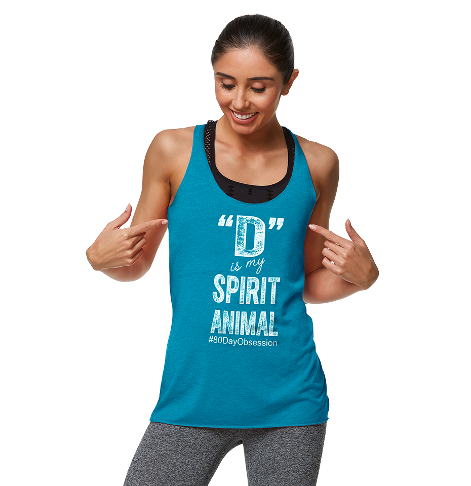 80 Day Obsession 80 day obsession challenge tank – spirit animal   team