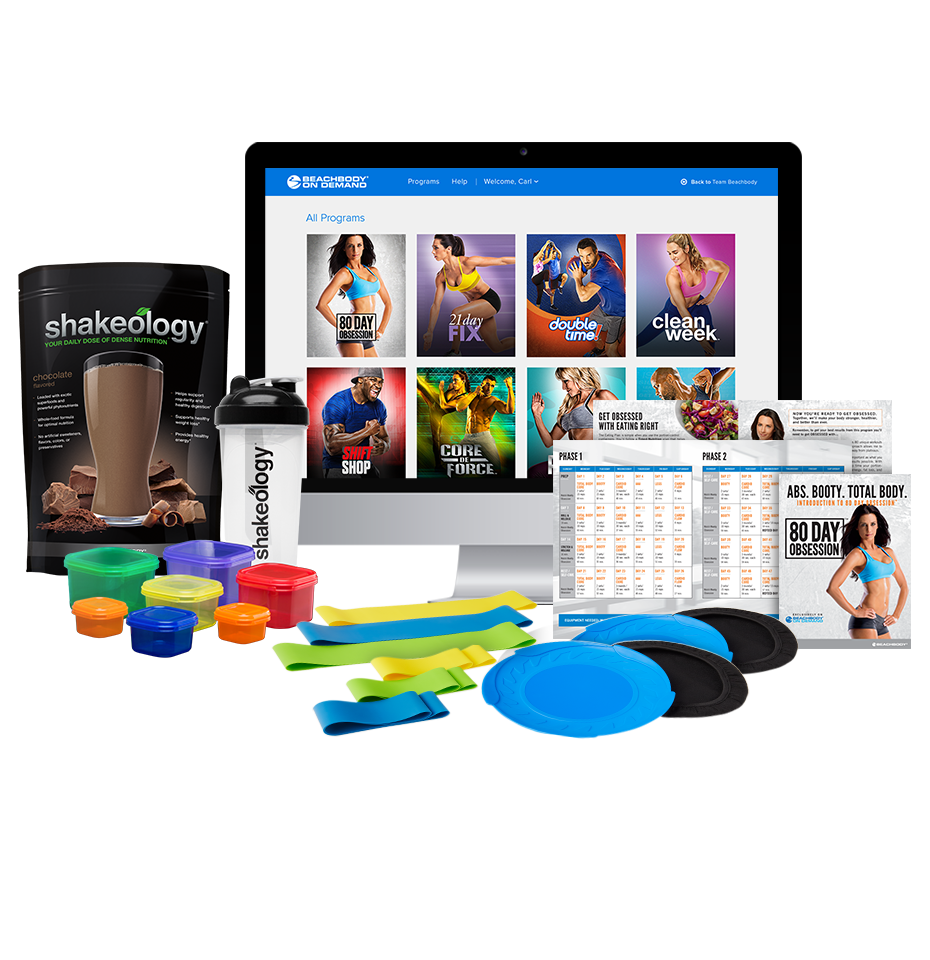 80 Day Obsession Annual Beachbody On Demand Shakeology Cp Team Us