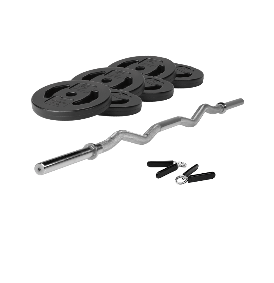 Ez Curl Bar With Weight Set